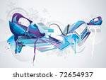 color abstract paint vector | Shutterstock .eps vector #72654937