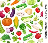 vegetables seamless pattern.... | Shutterstock .eps vector #726549598