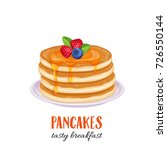 vector pancakes illustration.... | Shutterstock .eps vector #726550144