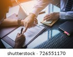 business team working on... | Shutterstock . vector #726551170