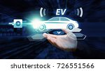 ev car  electric car in hand... | Shutterstock . vector #726551566
