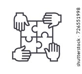 puzzle with four hands... | Shutterstock .eps vector #726551998
