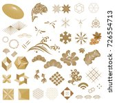 japanese icon vector and gold... | Shutterstock .eps vector #726554713