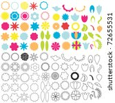 set of graphic floral elements | Shutterstock .eps vector #72655531