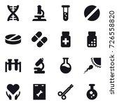 16 vector icon set   dna ... | Shutterstock .eps vector #726558820