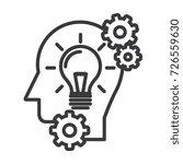 head with lamp idea generation...   Shutterstock .eps vector #726559630