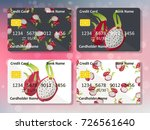 design for credit card with... | Shutterstock .eps vector #726561640