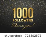thank you one thousand... | Shutterstock .eps vector #726562573