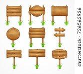wooden signboards  wood arrow... | Shutterstock . vector #726562936