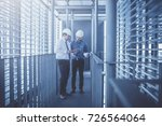 engineer and construction team... | Shutterstock . vector #726564064