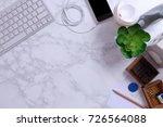 mock up smartphone with... | Shutterstock . vector #726564088