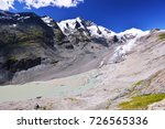 view on the glacier from alpine ... | Shutterstock . vector #726565336