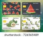 sweet juicy whole watermelon... | Shutterstock .eps vector #726565489