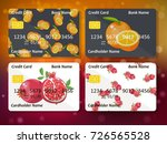bank credit card design with... | Shutterstock .eps vector #726565528