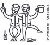 drunk people  drunk party  two... | Shutterstock .eps vector #726565816