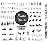 rustic nature clip art   vector ... | Shutterstock .eps vector #726565840