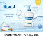 foaming hand wash ads ... | Shutterstock .eps vector #726567106
