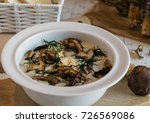 creamy soup of forest mushrooms ... | Shutterstock . vector #726569086