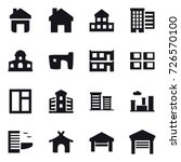 16 vector icon set   home ... | Shutterstock .eps vector #726570100