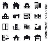 16 vector icon set   home ... | Shutterstock .eps vector #726570100