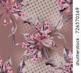 seamless pattern with weigela... | Shutterstock . vector #726570169