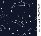 leo. seamless pattern with... | Shutterstock .eps vector #726570610