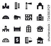 16 vector icon set   castle ... | Shutterstock .eps vector #726581929