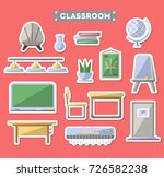 school classroom furniture icon ... | Shutterstock .eps vector #726582238