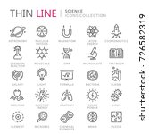 collection of science thin line ... | Shutterstock .eps vector #726582319