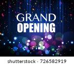 grand opening event design... | Shutterstock .eps vector #726582919