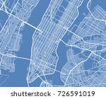aerial view usa new york city... | Shutterstock .eps vector #726591019