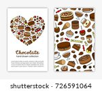 card templates with doodle... | Shutterstock .eps vector #726591064