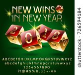 vector casino happy new year... | Shutterstock .eps vector #726594184