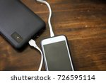 smartphone with standby power... | Shutterstock . vector #726595114