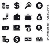 16 vector icon set   coin stack ... | Shutterstock .eps vector #726602446