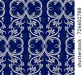 blue snowflakes. endless... | Shutterstock .eps vector #726602788