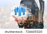double exposure of customer... | Shutterstock . vector #726605320