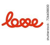 love knot typography. heart... | Shutterstock .eps vector #726608830