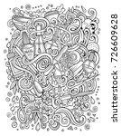 cartoon cute doodles hand drawn ...   Shutterstock .eps vector #726609628