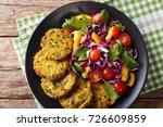 vegetarian quinoa burgers with... | Shutterstock . vector #726609859