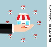 franchise business concept... | Shutterstock .eps vector #726612073