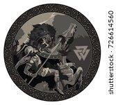 ragnarok. battle of the god... | Shutterstock .eps vector #726614560