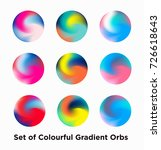 liquid color covers set. fluid... | Shutterstock .eps vector #726618643