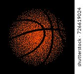 basketball vector technology... | Shutterstock .eps vector #726619024