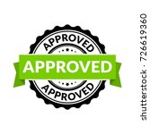approved seal stamp sign.... | Shutterstock .eps vector #726619360