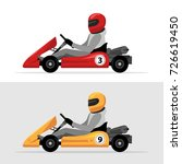 kart driver sport background.... | Shutterstock .eps vector #726619450