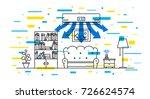 domestic air conditioner vector ... | Shutterstock .eps vector #726624574
