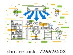 working place air conditioner... | Shutterstock .eps vector #726626503