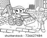 cartoon construction building... | Shutterstock .eps vector #726627484