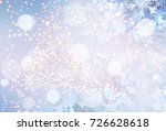 christmas and happy new year... | Shutterstock . vector #726628618
